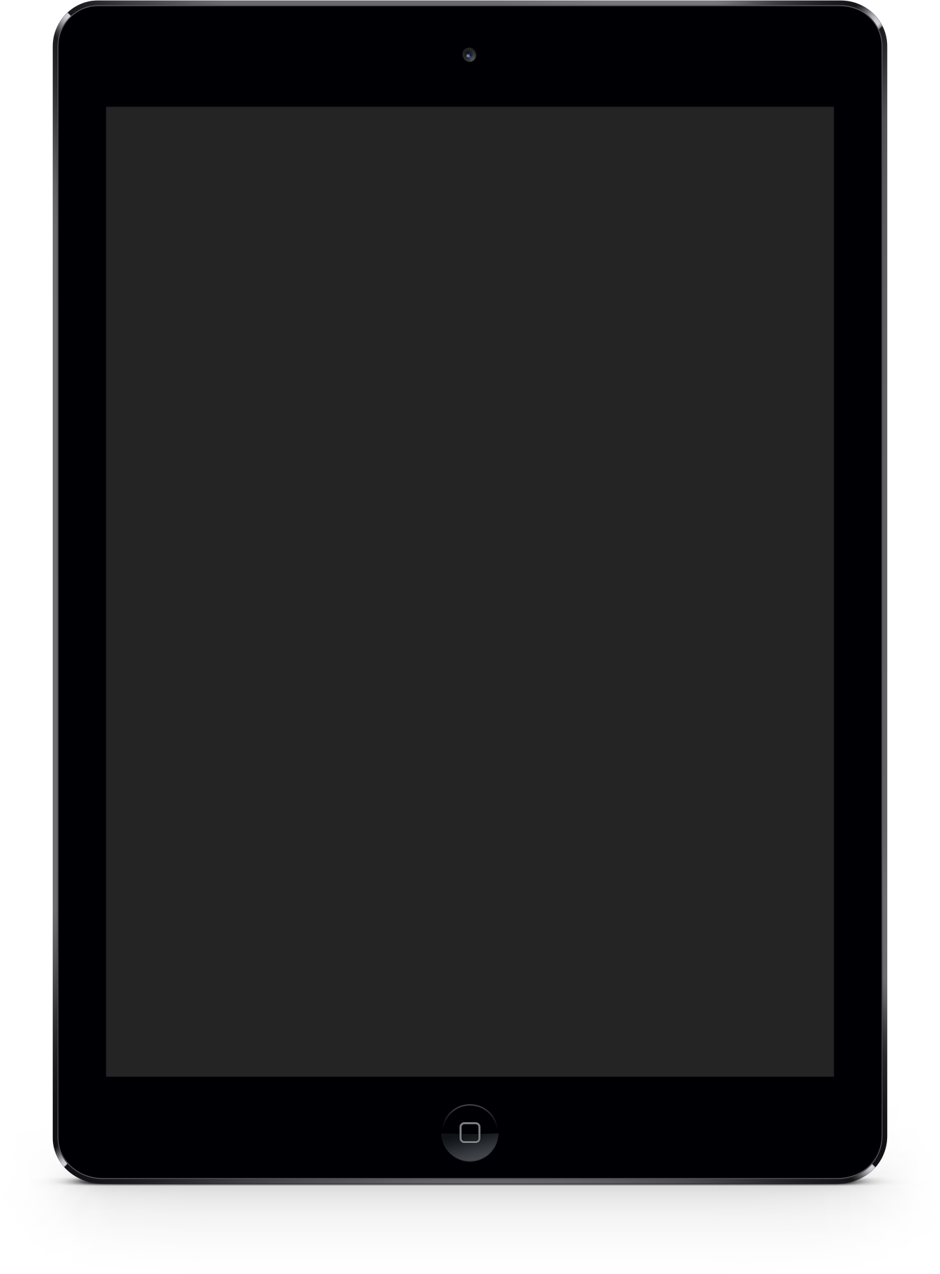 iPad device wrapper in vertical format.