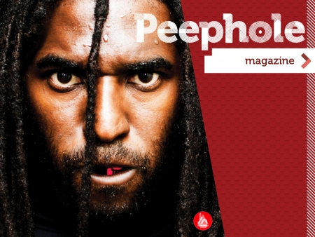 The face of one of the interesting people we interviewed for Peephole Magazine.